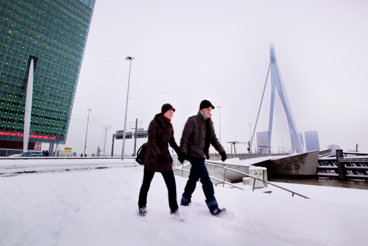 Erasmusbrug in de winter