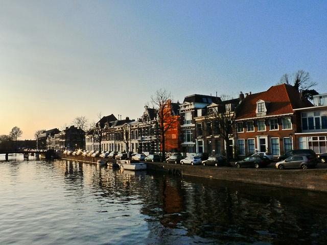 Kade in Haarlem