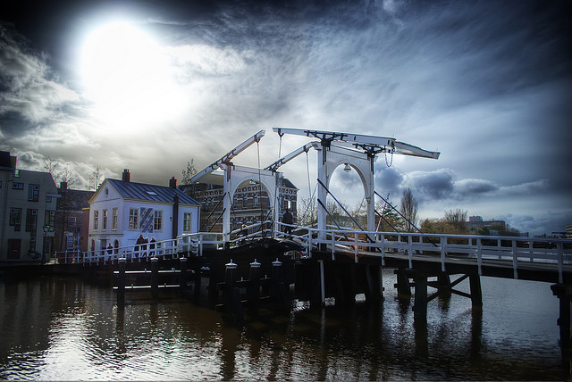 Ophaalbrug in Leiden