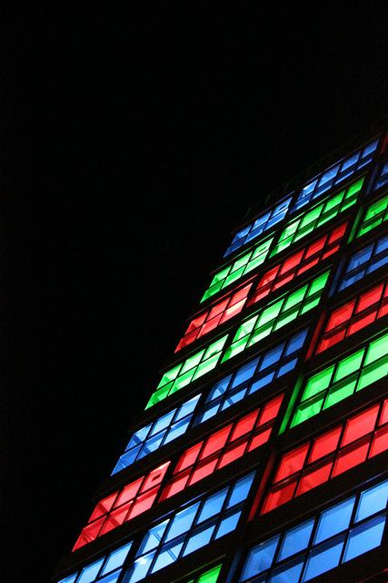 Kleurrijk gebouw in Leiden