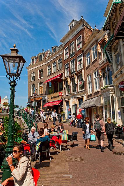 Straatbeeld Leiden