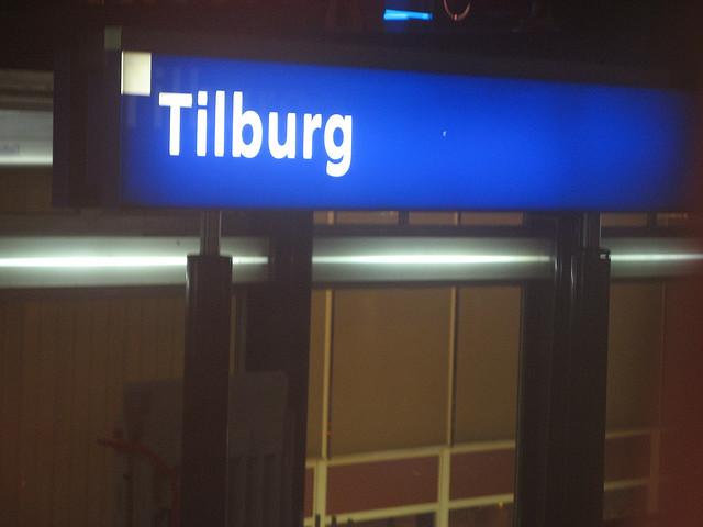 Stationsbord Tilburg